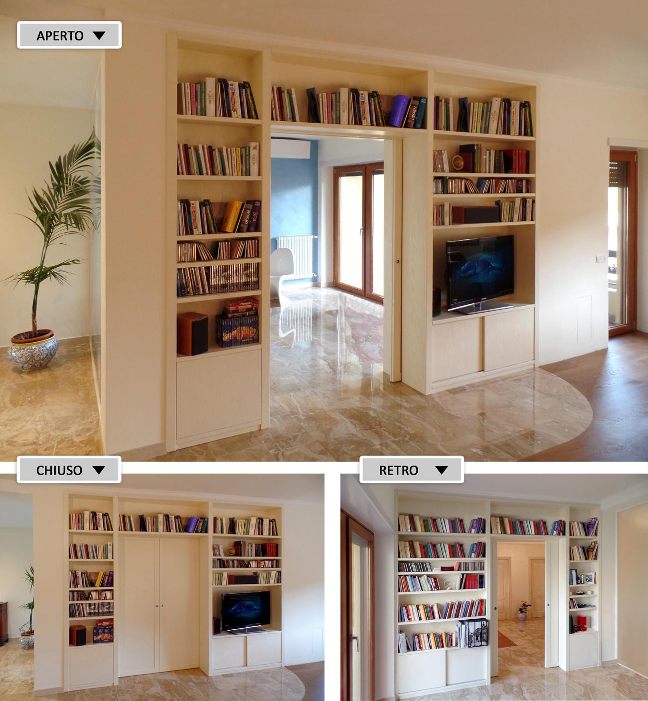Foto librerie divisorie in legno su misura - Libreria in camera da letto ...