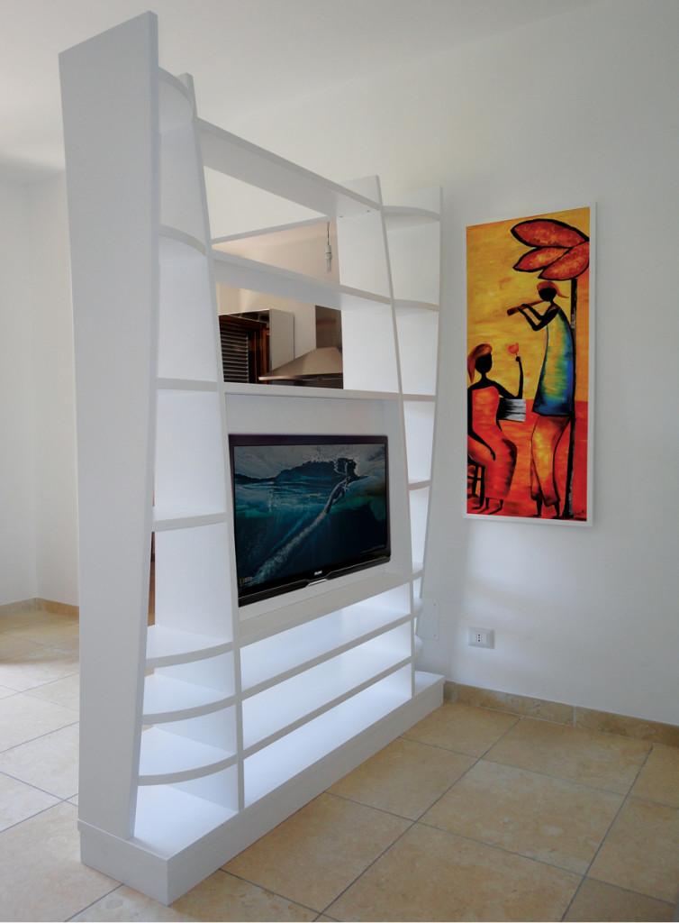 Pareti attrezzate su misura roma falegnamerie design - Pareti attrezzate porta tv ...