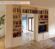 librerie bifacciali in legno