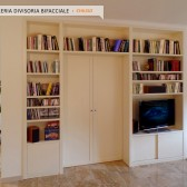 librerie bifacciali in legno roma