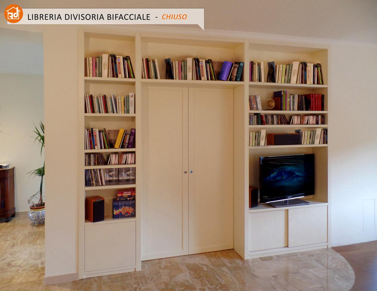 Librerie bifacciali su misura costruite in vero legno - Librerie mobili prezzi ...