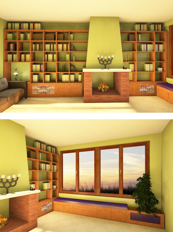 Foto librerie su misura falegnamerie design for Librerie in legno moderne