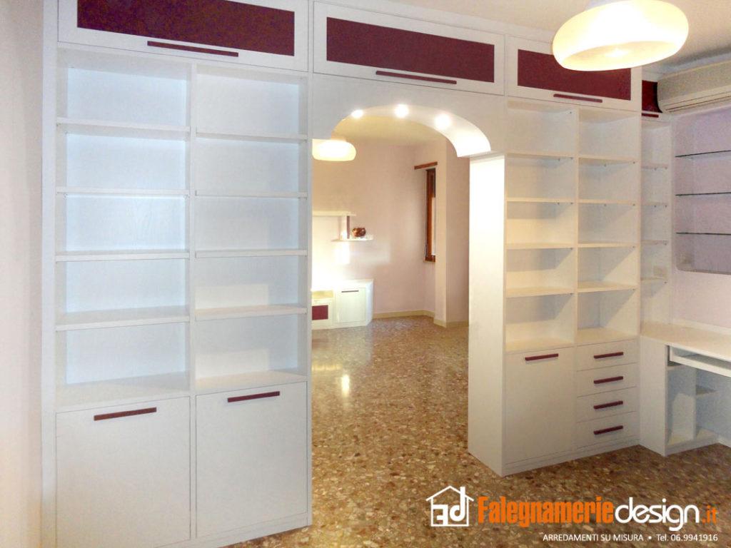 Librerie bifacciali su misura costruite in vero legno - Mobile libreria a parete ...