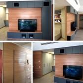 pareti attrezzate in legno