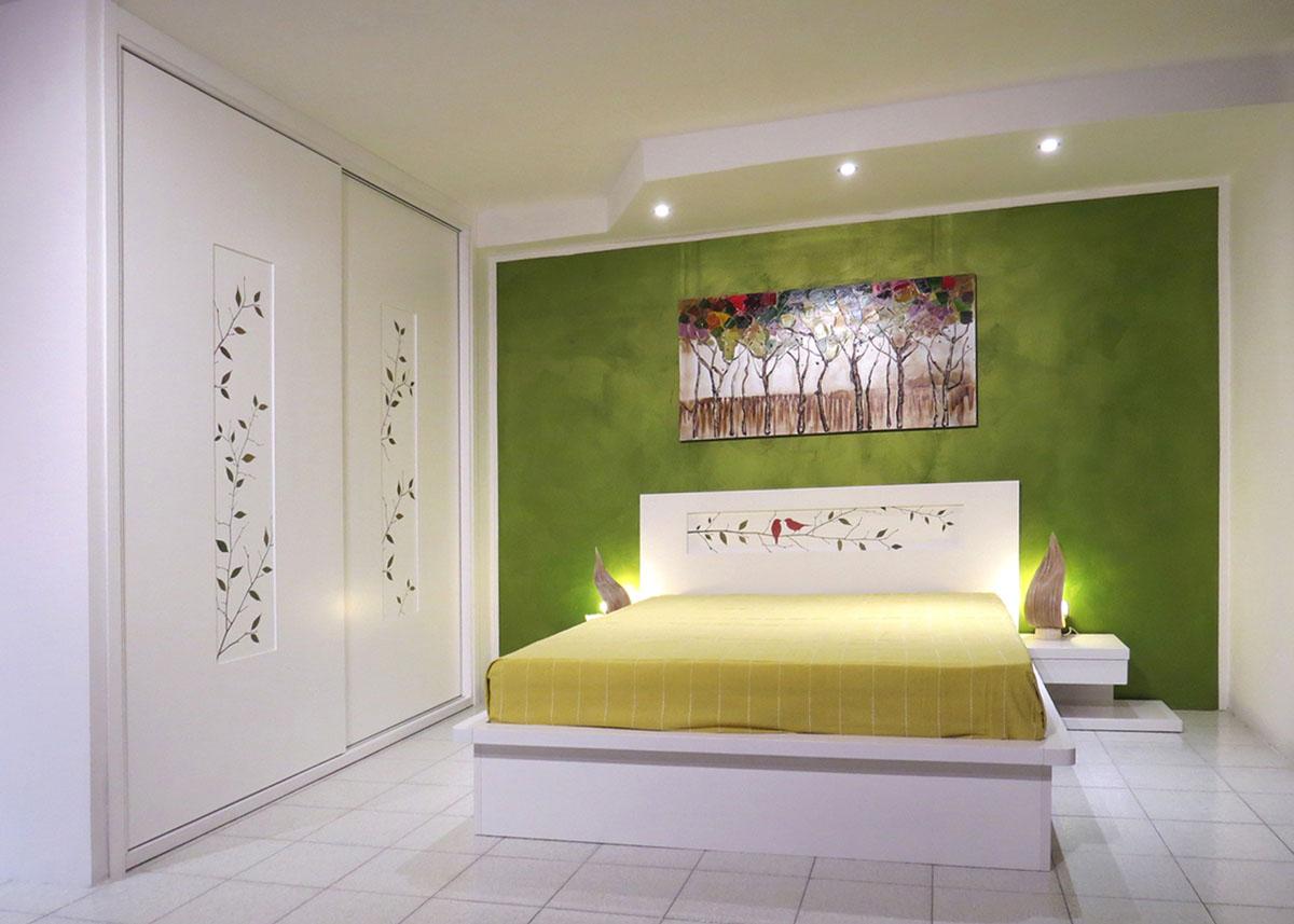 Camere da letto roma tutto in vero legno su misura - Camera da letto laccata bianca ...