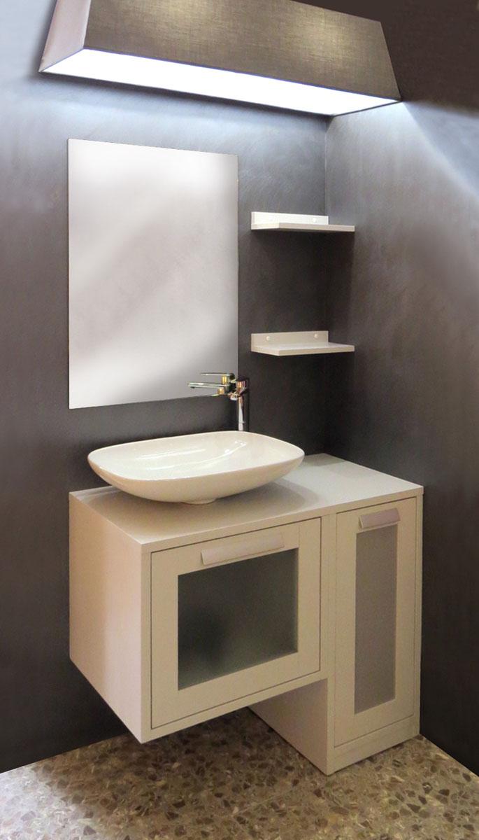 Mobili bagno grigio affordable mobile bagno con lavabo in - Bagno moderno grigio ...