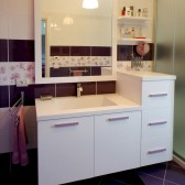 mobile lavello bagno in vero legno