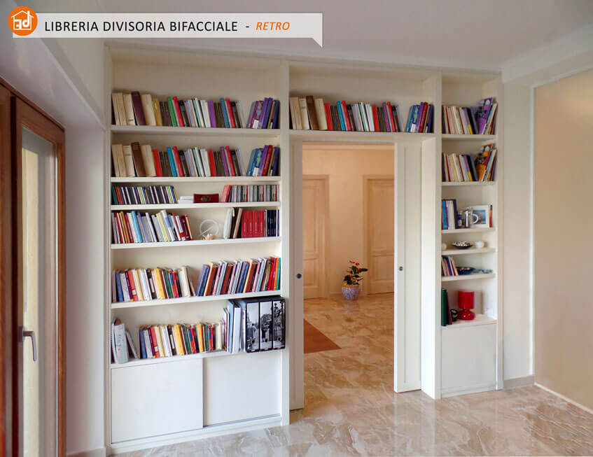 librerie bifacciali in legno vero arredamenti e mobili