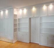 parete attrezzata libreria in legno