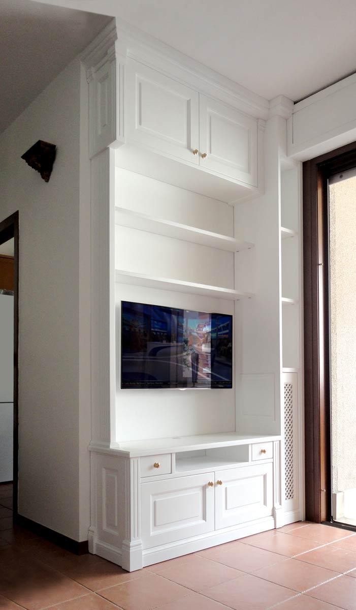 Pareti attrezzate su misura roma falegnamerie design for Foto pareti attrezzate