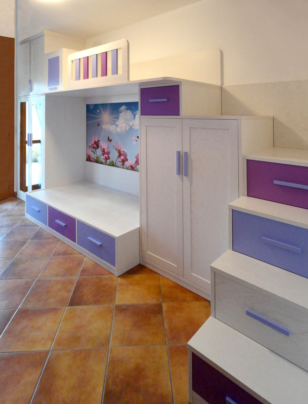 Foto camerette su misura falegnamerie design - Cameretta letto soppalco ...