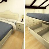 camera con letto rialzabile su misura