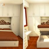 camera da letto con rete elevabile