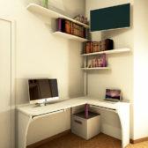 scrivania angolare legno