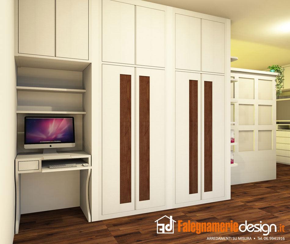 Scrivanie su misura roma falegnamerie design risparmia fino al 30 - Scrivania camera da letto ...