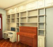 scrivania incassata nella libreria 2