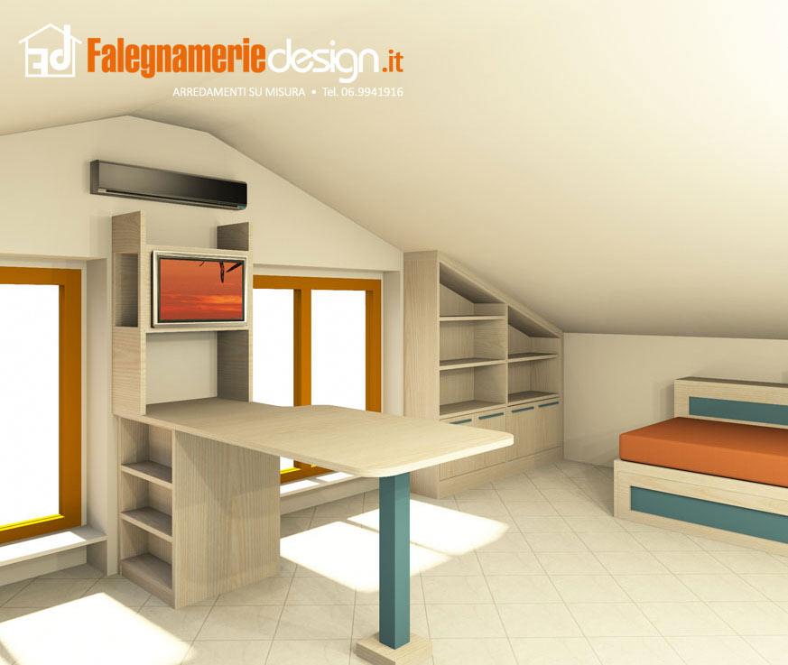 Scrivanie su misura roma falegnamerie design risparmia - Scrivanie legno design ...