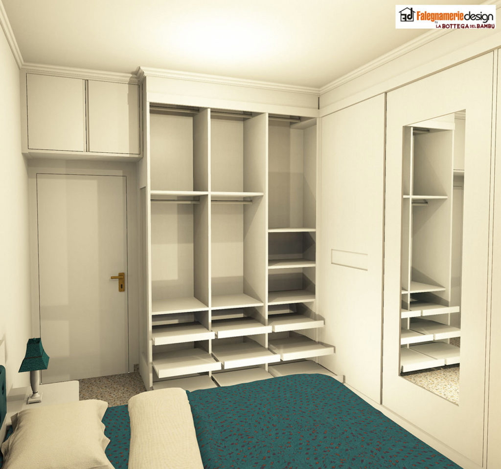 Camera su misura progetto 1 arredamenti e mobili su - Progetto camera ...
