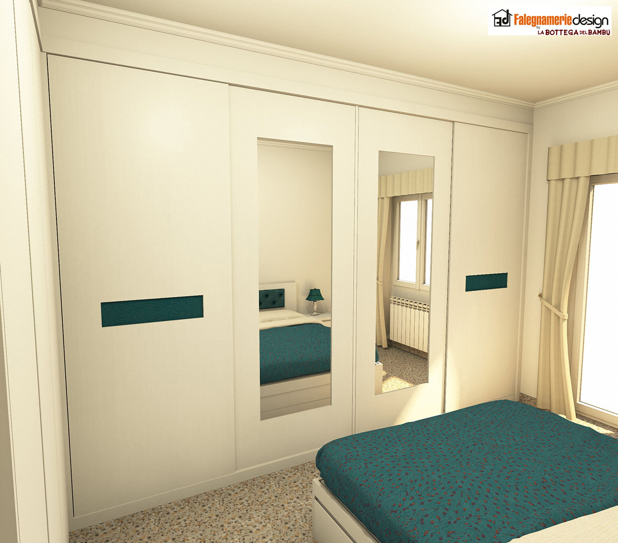 Camera su misura progetto 1g arredamenti e mobili su - Progetto camera ...
