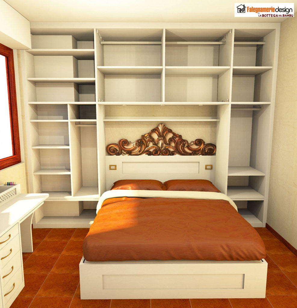Camera su misura progetto 6 arredamenti e mobili su - Progetto camera ...