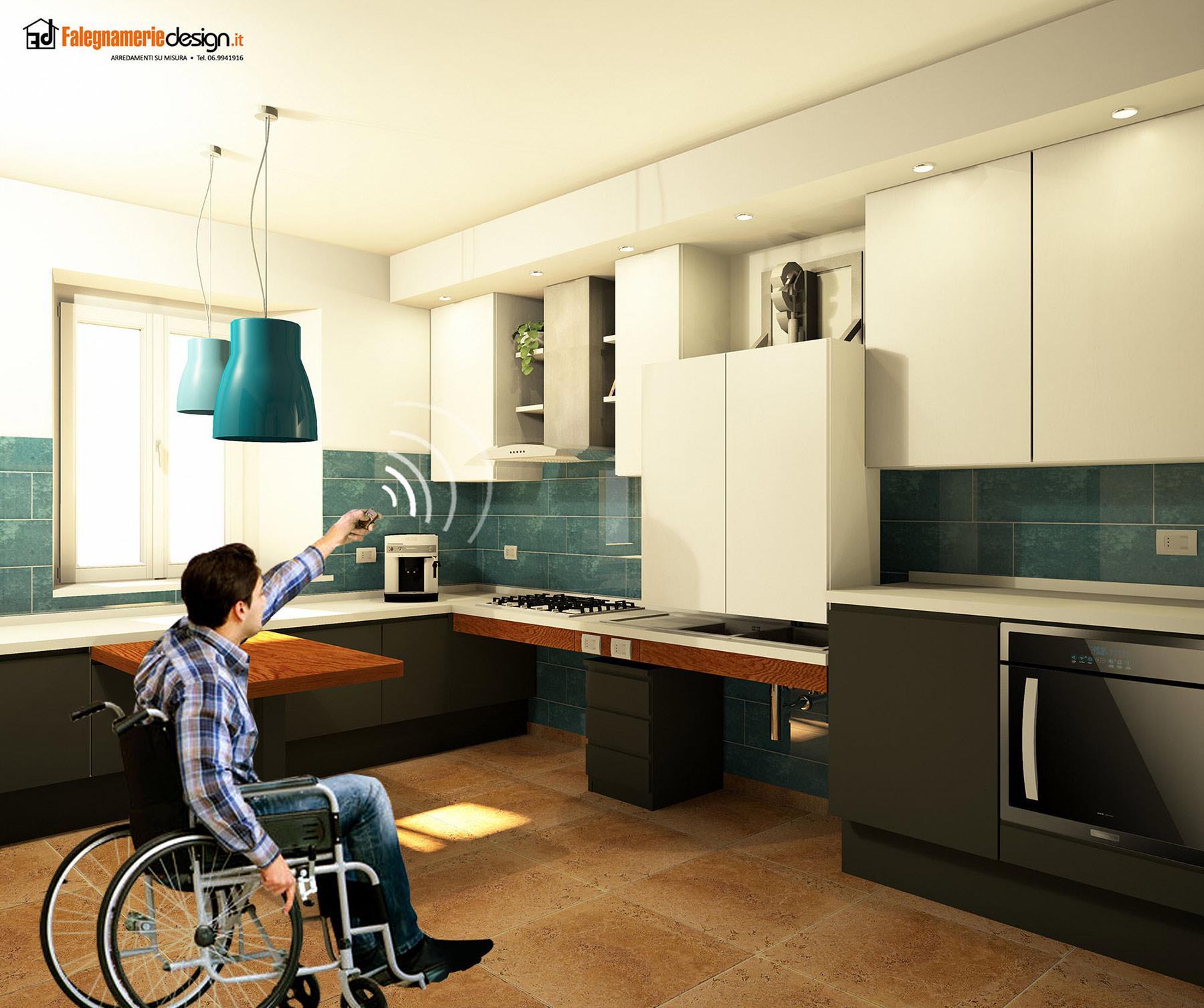 Cucine per disabili il su misura perfetto falegnamerie design - Cucine per disabili ...