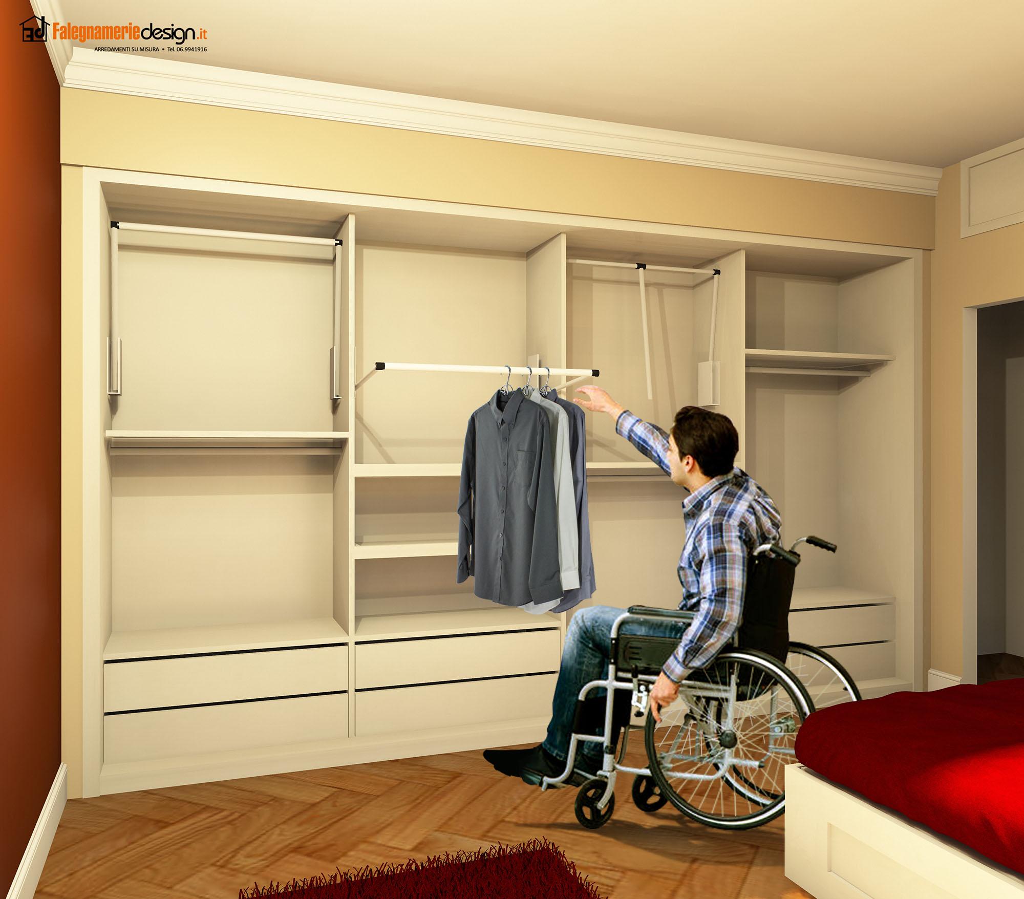 armadi per disabili su carrozzina