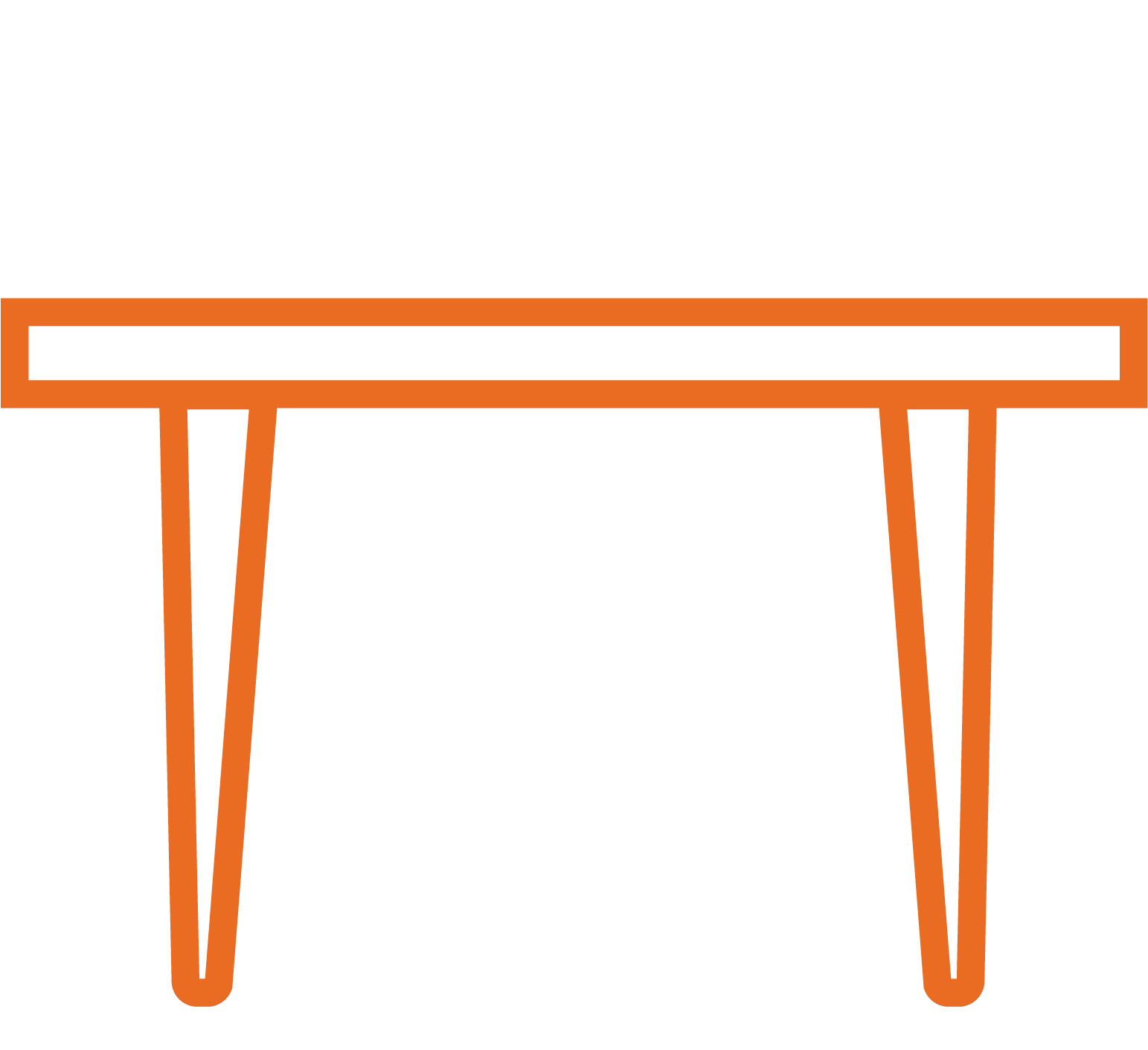 Tavolo in legno su misura per soggiorno e cucina