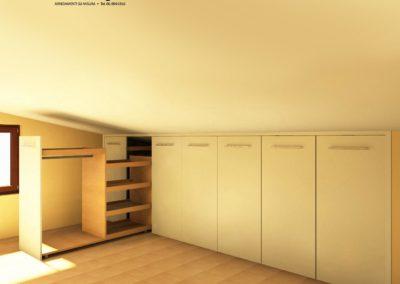 armadio per mansarde 117
