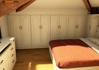 armadio per mansarde 132