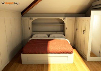armadio per mansarde 133