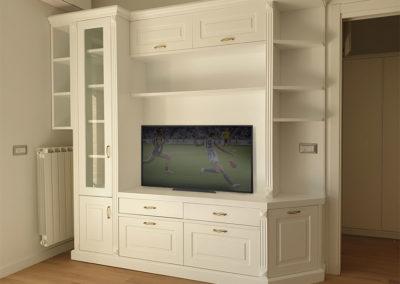 Mobile per tv con legno in stile classico