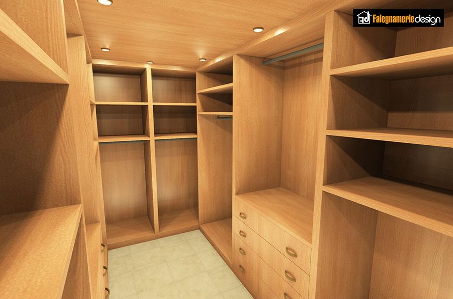 Cabina armadio in vero legno per riporre abiti e accessori