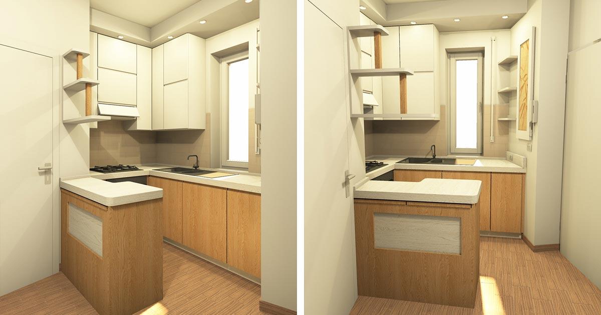 Come arredare cucine piccole - Falegnamerie Design