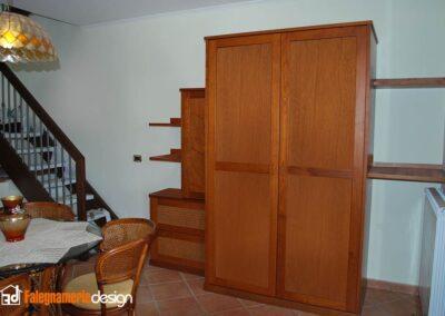 cucina a scomparsa in vero legno
