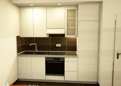 piccola cucina moderna in vero legno
